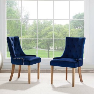 Mandeville Upholstered Dining Chair (Set of 2) House of Hampton