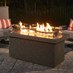 The Outdoor GreatRoom Company Boreal Complete Heat Linear Aluminum Fire Pit Table