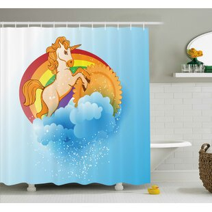 Sheldon Cartoon Kids Rainbow Single Shower Curtain