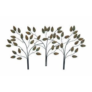 Metal Leaf Wall Decor tree & nature metal wall art you'll love | wayfair