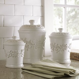 Racine 3 Piece Kitchen Canister Set