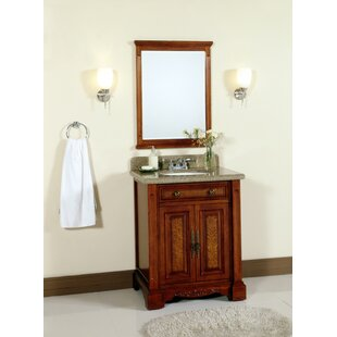 Online Reviews 28 Single Bathroom Vanity Set with Mirror By Lanza