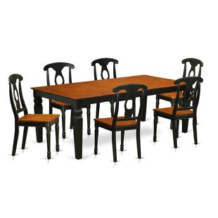 Beesley 7 Piece Solid Wood Dining Set