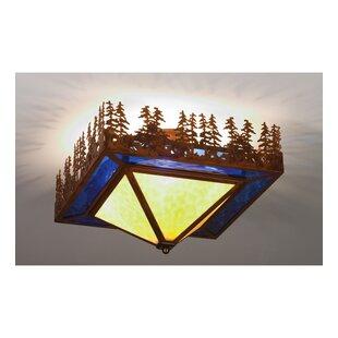 Meyda Tiffany Lake 4-Light Semi Flush Mount