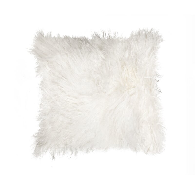 Mel Mongolian Sheepskin Throw Pillow. Shop the Room! Sarah Richardson {Belvedere Rooftop Gallery} #mongolianshieepskin #sheepskinpillow