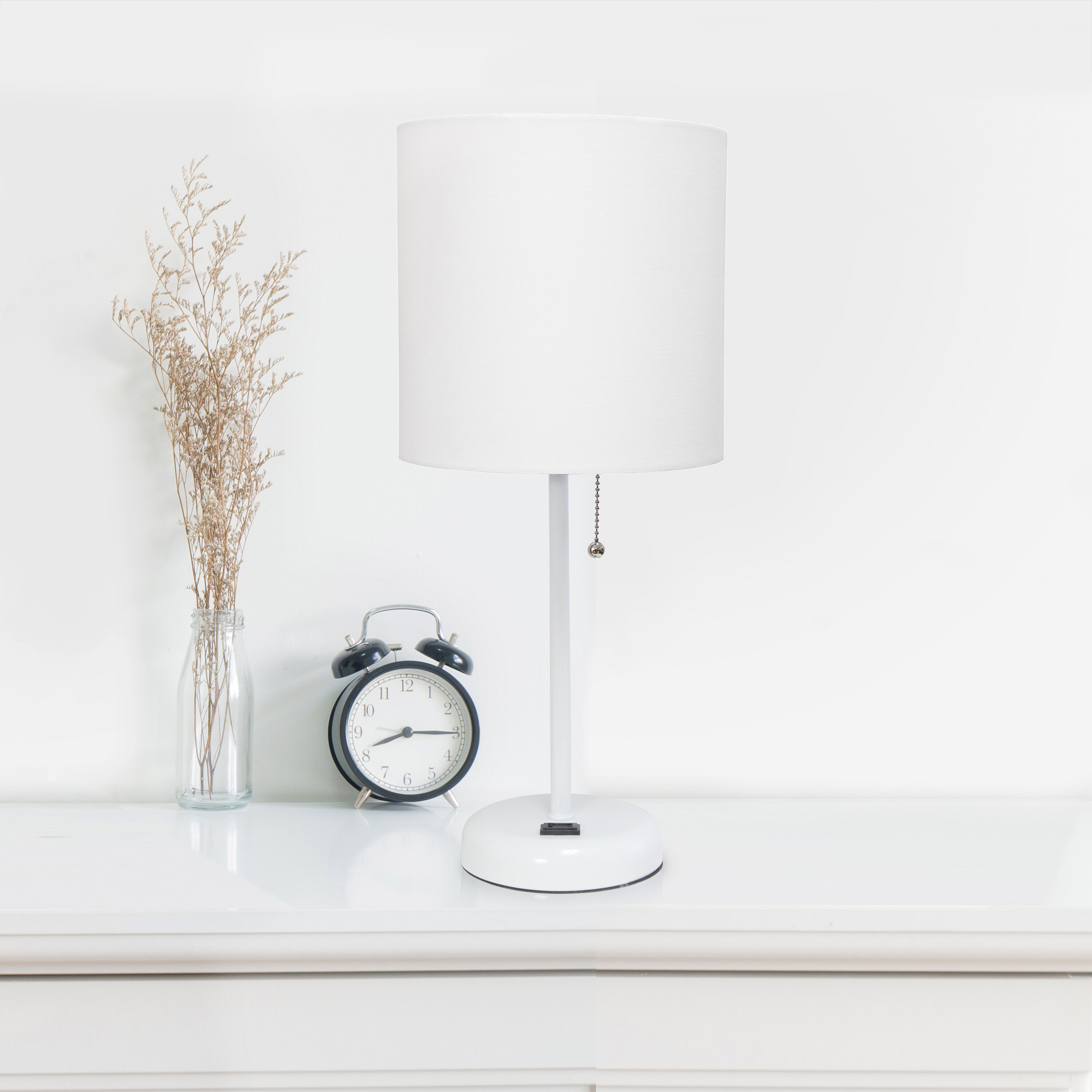 Zipcode Design Zainab 19 5 Table Lamp With Outlet Reviews Wayfair
