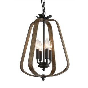 Williston Forge Coronado 4-Light Lantern Chandelier