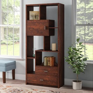 Aitana Geometric Bookcase by Winston Porter SKU:CD226729 Guide