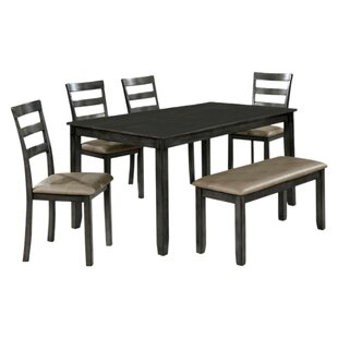 Reilly Wooden 6 Piece Counter Height Dining Table Set