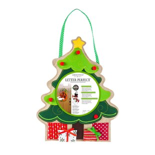 christmas tree monogram burlap door dcor