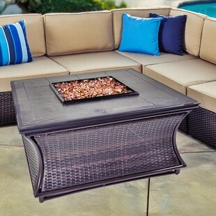 Spring Hill Wicker Propane Fire Pit Table