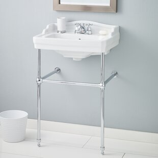 Essex Metal 24 Console Bathroom Sink with Overflow ByCheviot Products