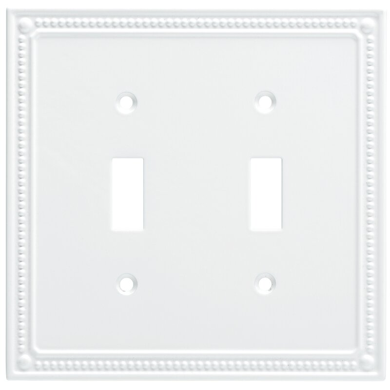 Franklin Brass Classic Beaded Double Switch Wall Plate Reviews