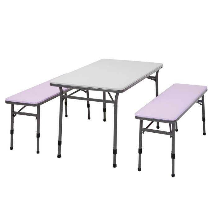 Miraculous Epping Adjustable Height Kids 3 Piece Rectangular Table And Chair Set Theyellowbook Wood Chair Design Ideas Theyellowbookinfo