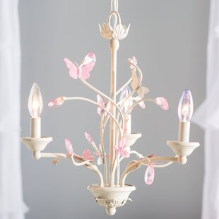 Compare prices Zelie 3-Light Candle Style Chandelier By Ophelia & Co.