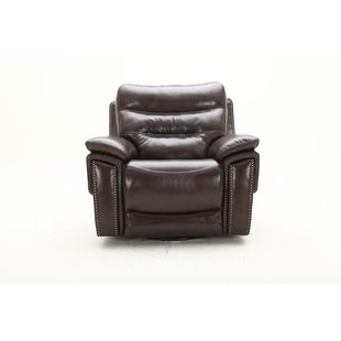 City Lights Swivel Headrest Power Glider Recliner