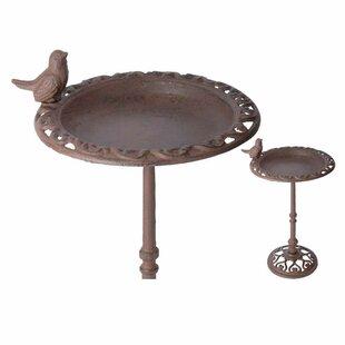 EsschertDesign Best for Birds Bird Feeder Birdbath
