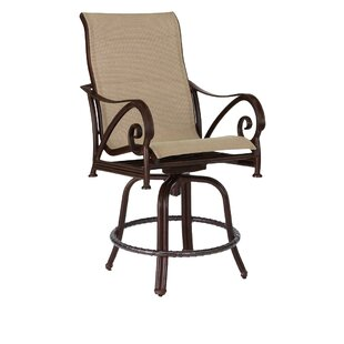 Leona Lucerne Sling Swivel Patio Bar Stool