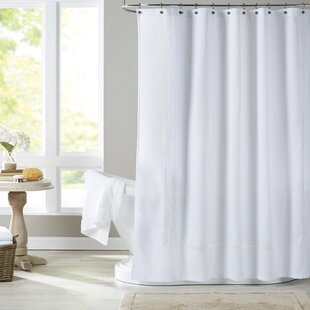 Althea Cotton Blend Single Shower Curtain By Eider & Ivory