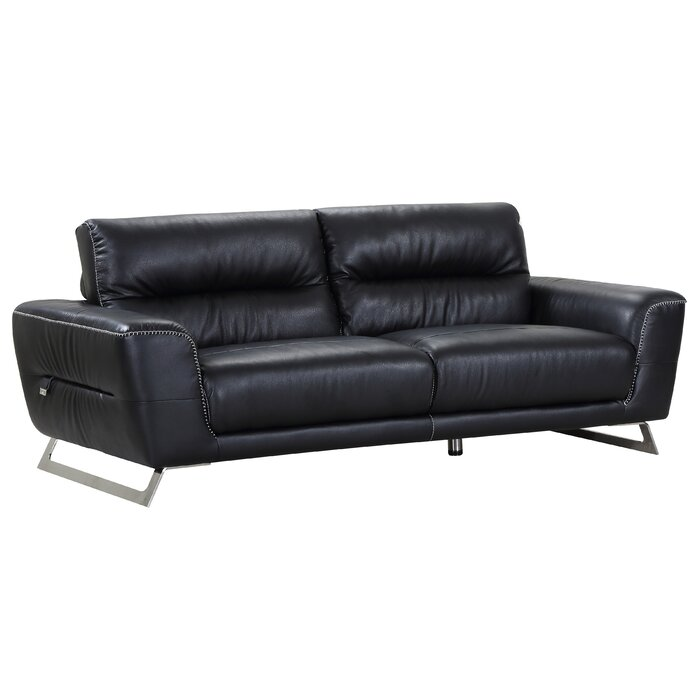 Hawkesbury Common Luxury Italian Upholstered Living Room Leather Sofa
