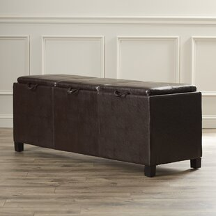 Aquavia Leather Storage Ottoman in Espresso