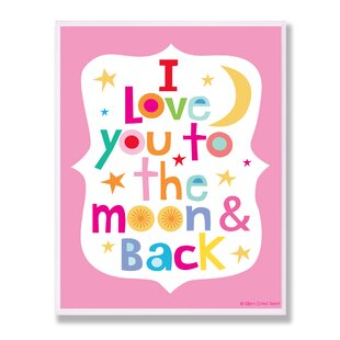 Stella Pink I Love You To The Moon and Back Wall Plaque