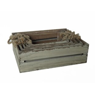 Read Reviews Slatted 5 Piece Wooden Crate Set By Cheungs