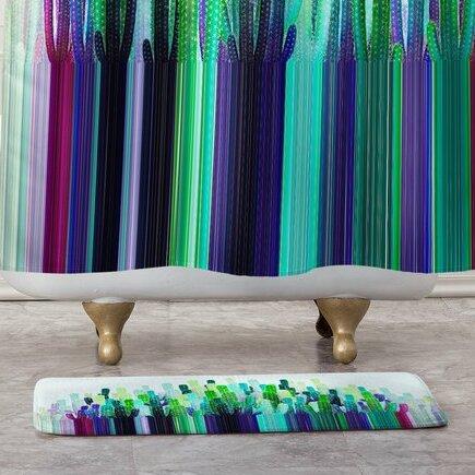 East Urban Home Cacti Stripe Non Slip Floral Bath Rug Wayfair