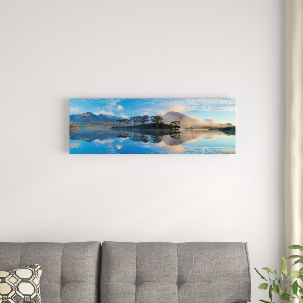 East Urban Home Misty Morning Reflection By Gareth Mccormack Photographic Print On Wrapped Canvas Wayfair