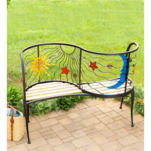 Sun and Moon Iron Tete-a-Tete Bench