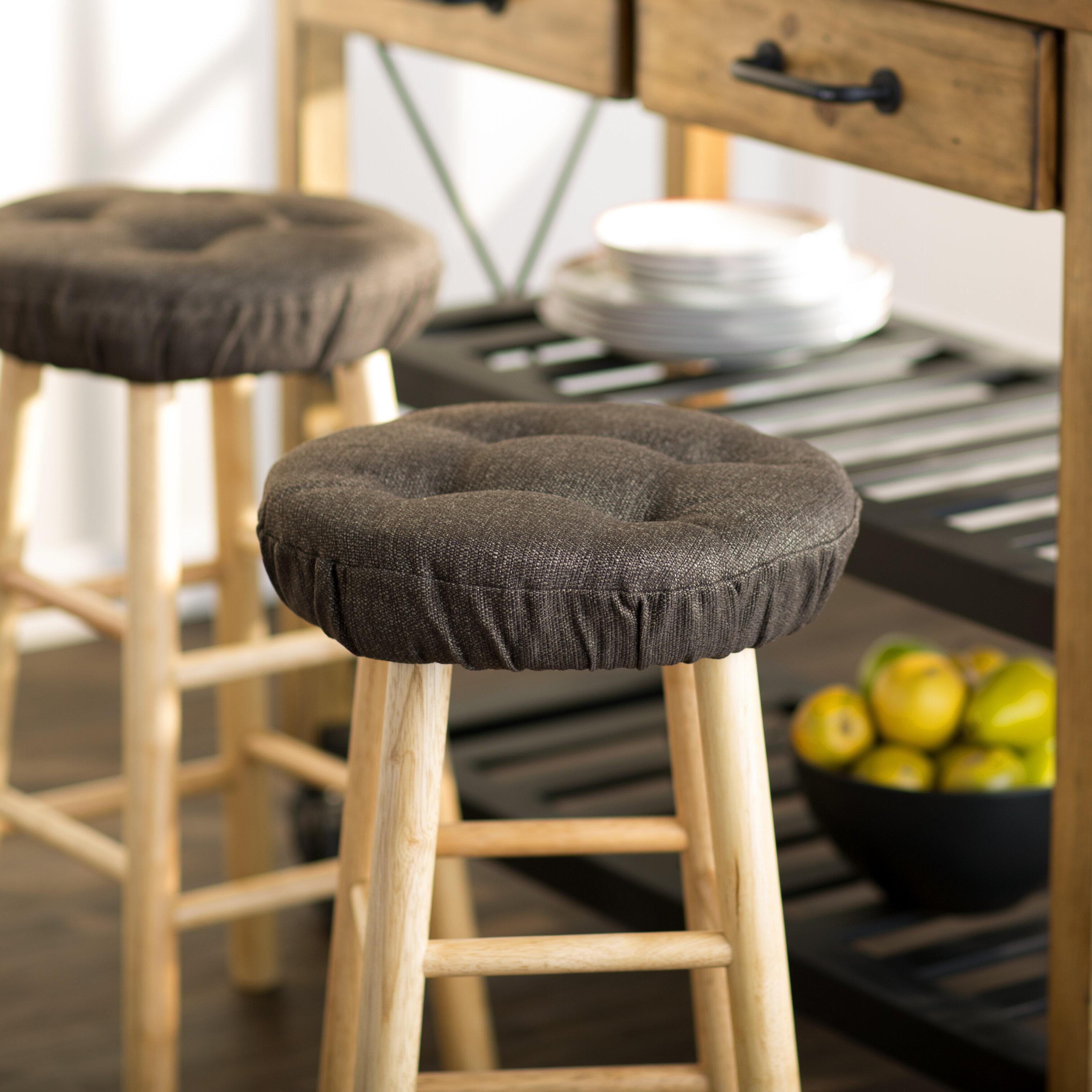 "Black Chevron Round Bar stool Cover 12/"" x 2/"" Thick"
