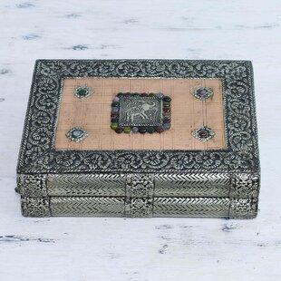 Savings Repousse Brass Jewelry Box By Novica