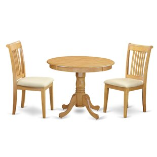 Brendan 3 Piece Breakfast Nook Solid Wood Dining Set August Grove