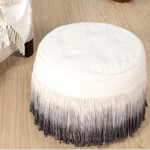 Potvin Fringed Pouf by Bun..