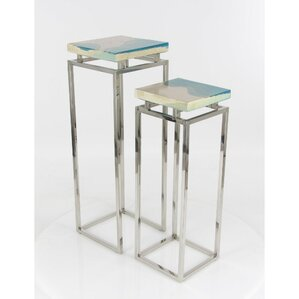 Eila 2 Piece Pedestal Nesting Tables Set by Latitude Run