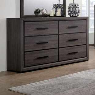 Beaudry 6 Drawer Dresser with Mirror