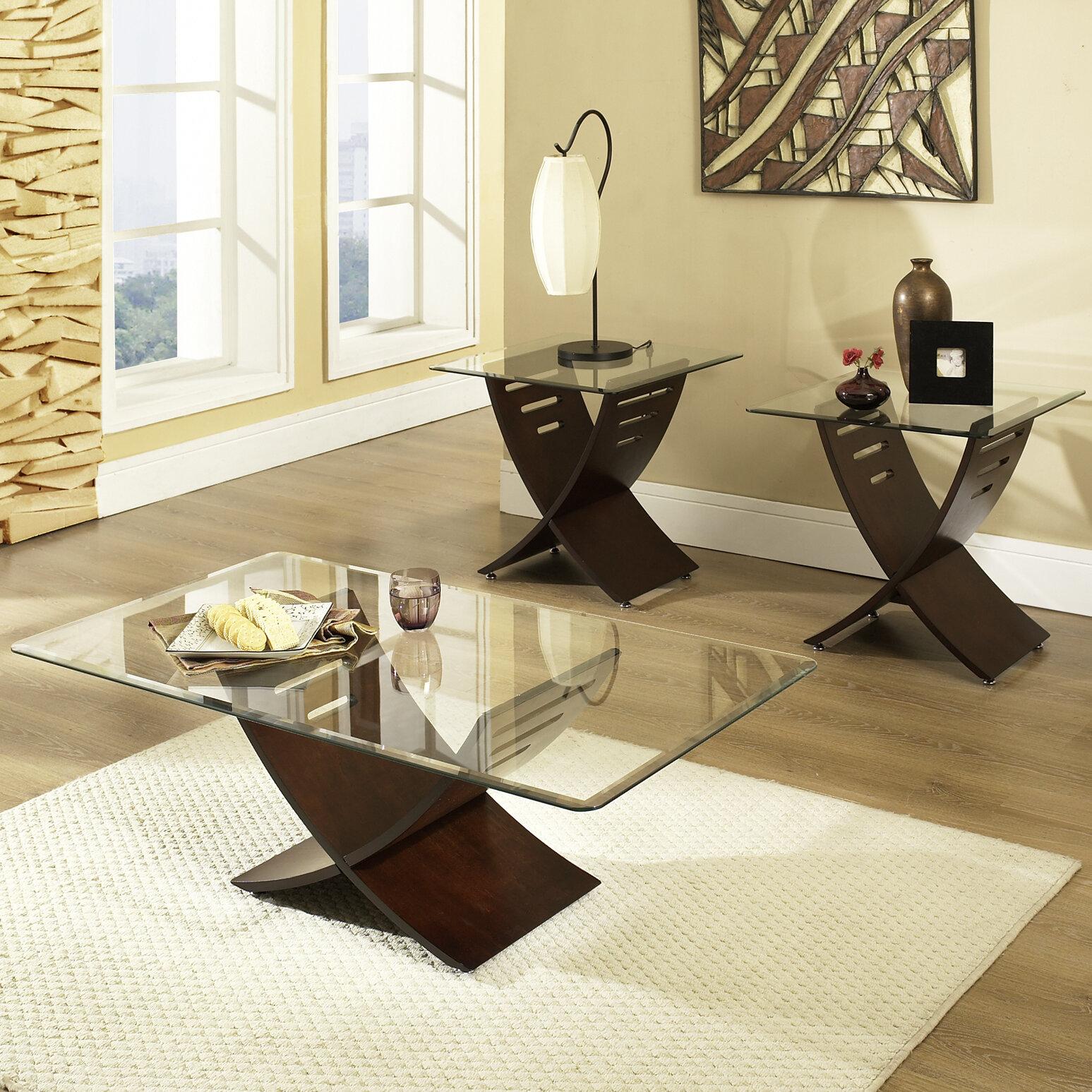 Alexios 3 Piece Coffee Table Set