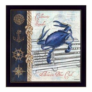 Atlantic Blue Crab Framed Graphic Art