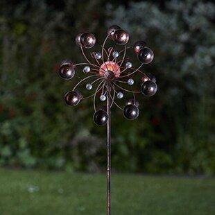 Harrigan Light Up Venti Wind Spinners Solar Powered Garden Torch Image