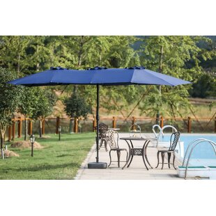 Zadie Twin 15' x 9' Rectangular Market Umbrella by Longshore Tides
