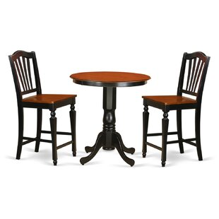 Eden 3 Piece Counter Height Pub Table Set Sale