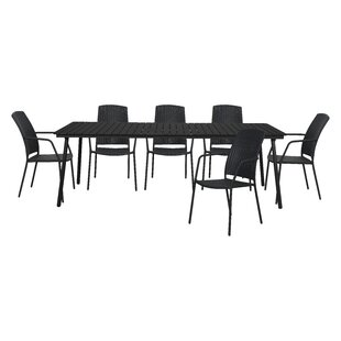 Matsuda 6 Seater Dining Set By Sol 72 Outdoor