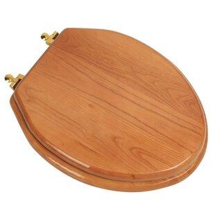 Plumbing Technologies LLC Designer Solid Oak Wood Elongated Toilet Seat