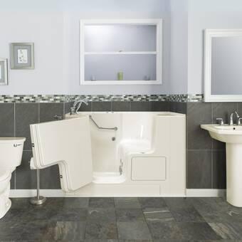 Ella Walk In Bath Mobile Acrylic Dual Digital Control 45 X 26 Walk In Combination Bathtub Wayfair