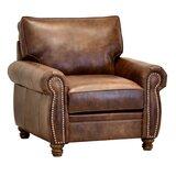Eberlein 40 W Top Grain Leather Armchair by Charlton Home®