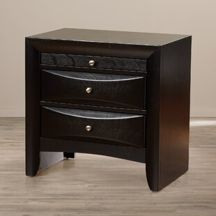 Latitude Run Kim 3 Drawer Nightstand