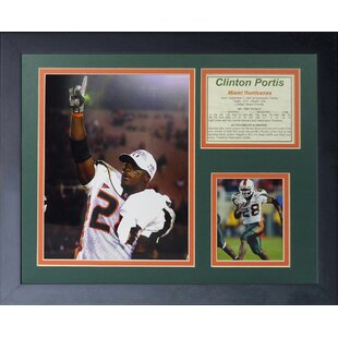Clinton Portis - Miami Hurricanes Framed Photographic Print By Legends Never Die
