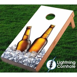 Lightning Cornhole Beer Bottles and Ice Cornhole Board