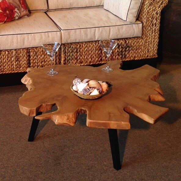 ChicTeak Teak Abstract Coffee Table | Wayfair
