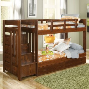 Twin Bunk Bed with Storage by Chelsea Home